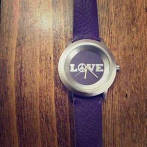 LUCKY BRAND Purple Peace/Love Watch